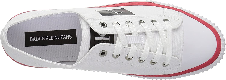 Calvin Klein Heren Iziceio Canvas Sneaker Kleur: wit