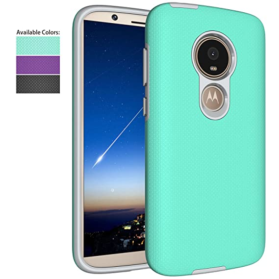 size 40 6d3f3 c9f77 Moto E5 Play Case,Moto E5 Cruise Case,NiuBox Armor Textured Slim Fit Dual  Layer [PC+TPU Hybrid] Anti-Slip Shock Absorption Protective Phone Cover for  ...