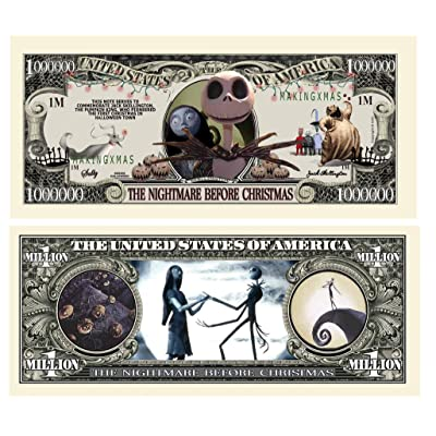 Nightmare Before Christmas Million Dollar Bill - Pack of 5: Toys & Games