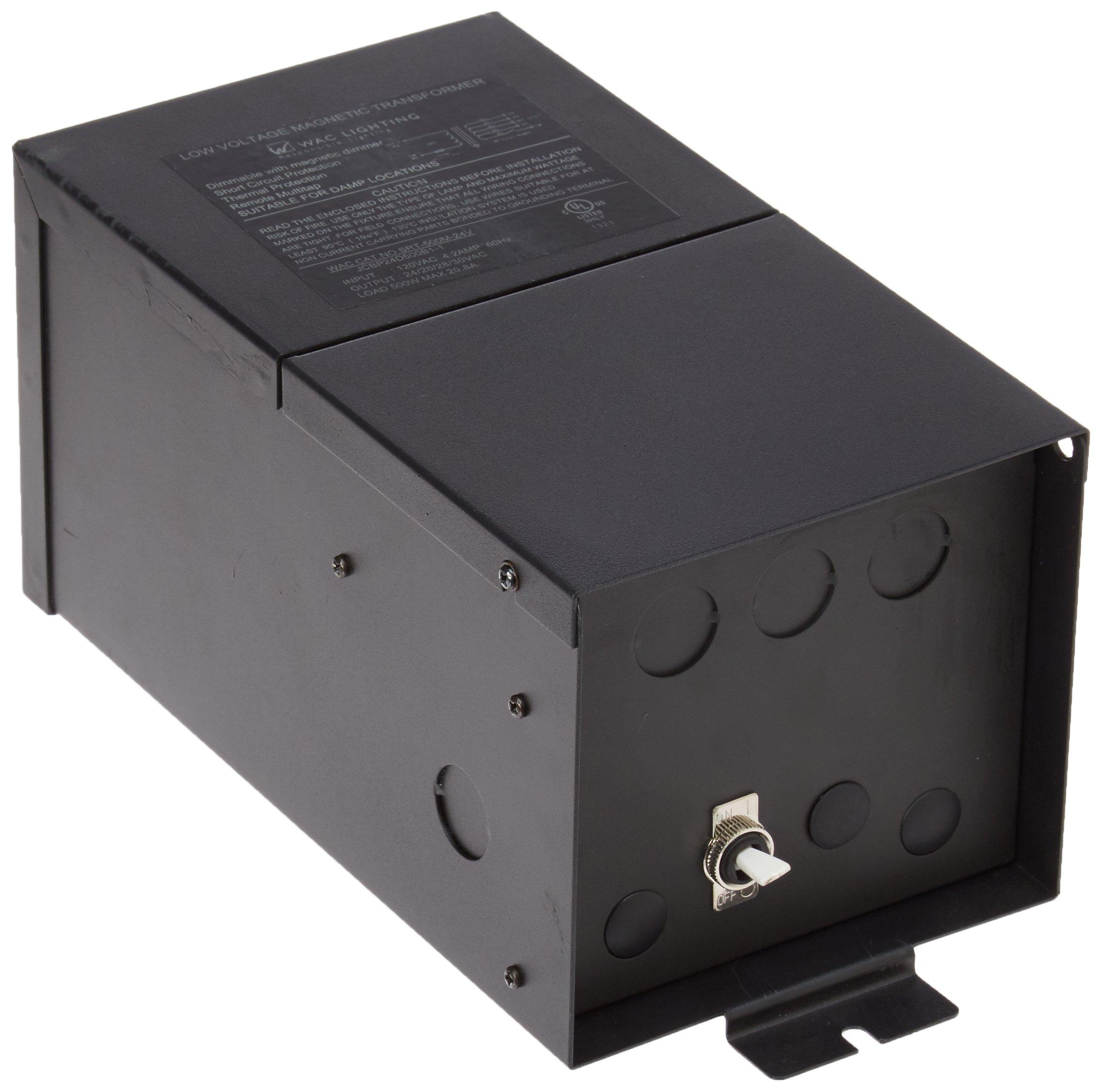 WAC Lighting SRT-500M-24V Remote Magnetic Transformer, 24V