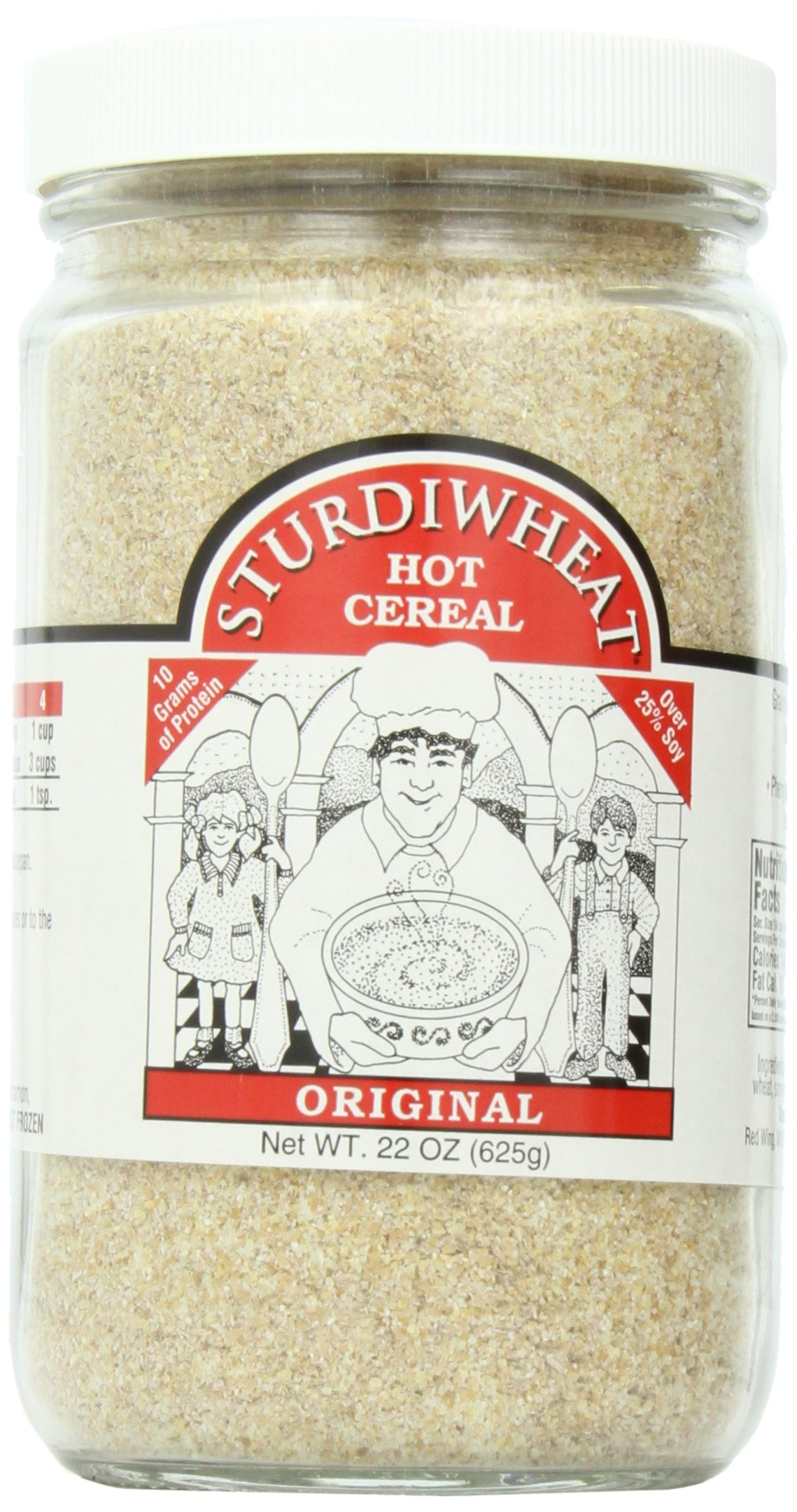 Sturdiwheat All Natural Hot Cereal, Original, 22-Ounce Container (Pack of 4)