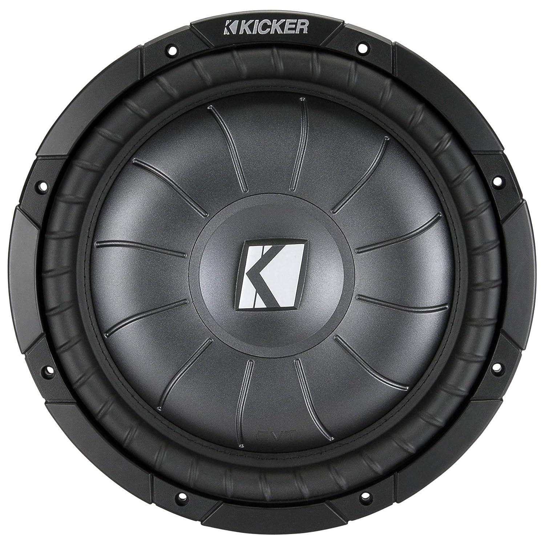 Kicker Cvt124 12 Single 4 Ohm Shallow Mount Compvt 1000 Watt Amp Wiring Kit Series Car Subwoofer Cell Phones Accessories