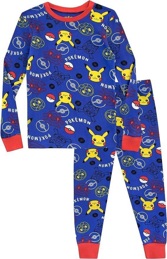 Pok/émon Pokemon Boys Pikachu 4-piece Cotton Pajama Set