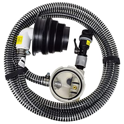 "Valterra 10-Foot Sewer Solution Kit, Universal Sewer Hose for RV Camper, Includes one 10' drain hose (OD 1.1""), pump head, sewer adapter, quick connect, and anti siphon valve: Automotive"