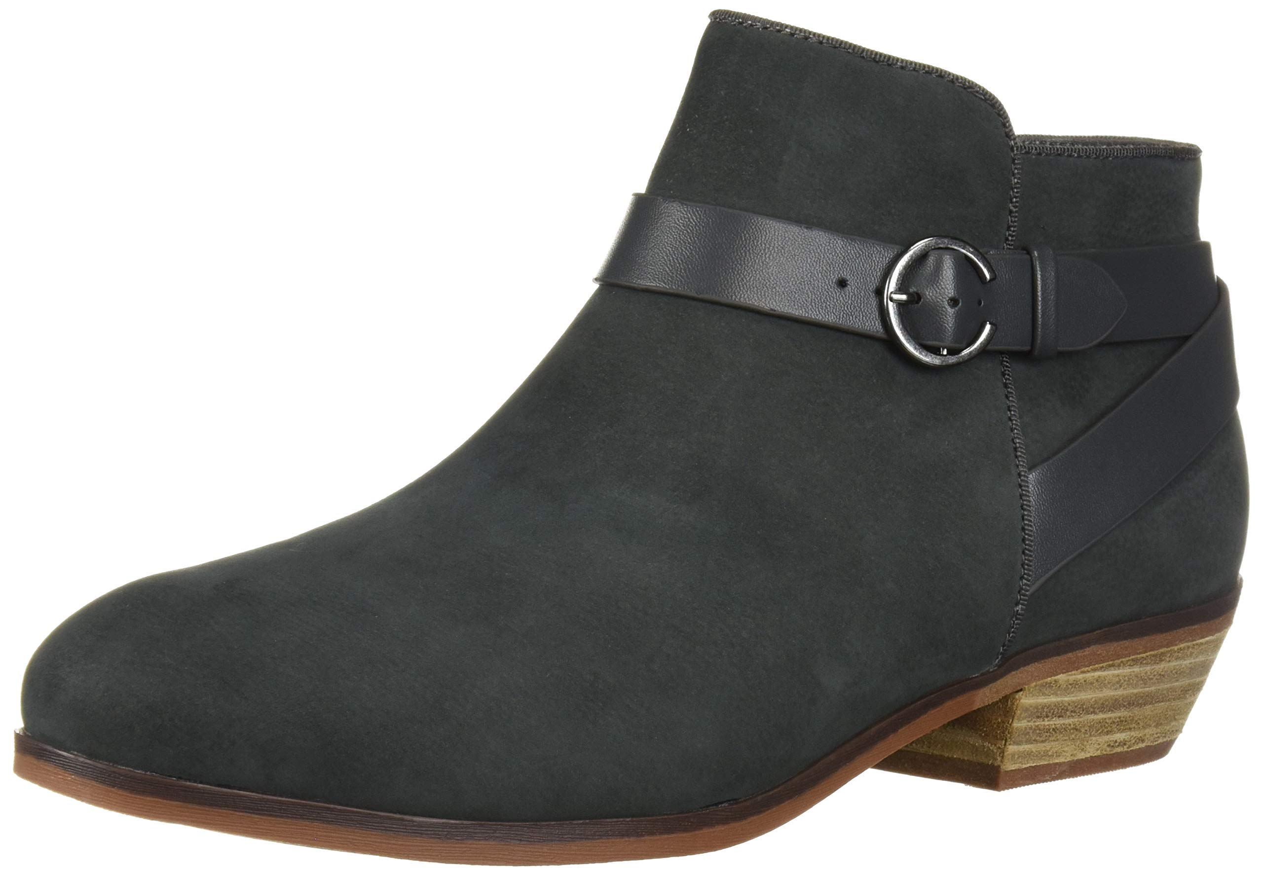 SoftWalk Women's Raven Ankle Boot, Graphite, 9.0 W US by SoftWalk