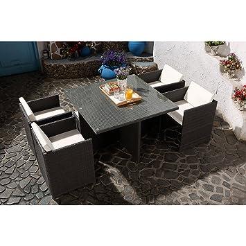 Concept-Usine Miami 4 Gris/Blanc : salon encastrable 4 personnes en ...