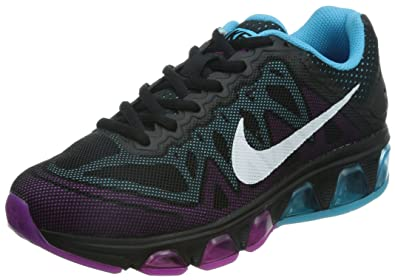 Nike Women's Air Max Tailwind 7 Black/White/Clrwtr/Fchs Flsh Running Shoe