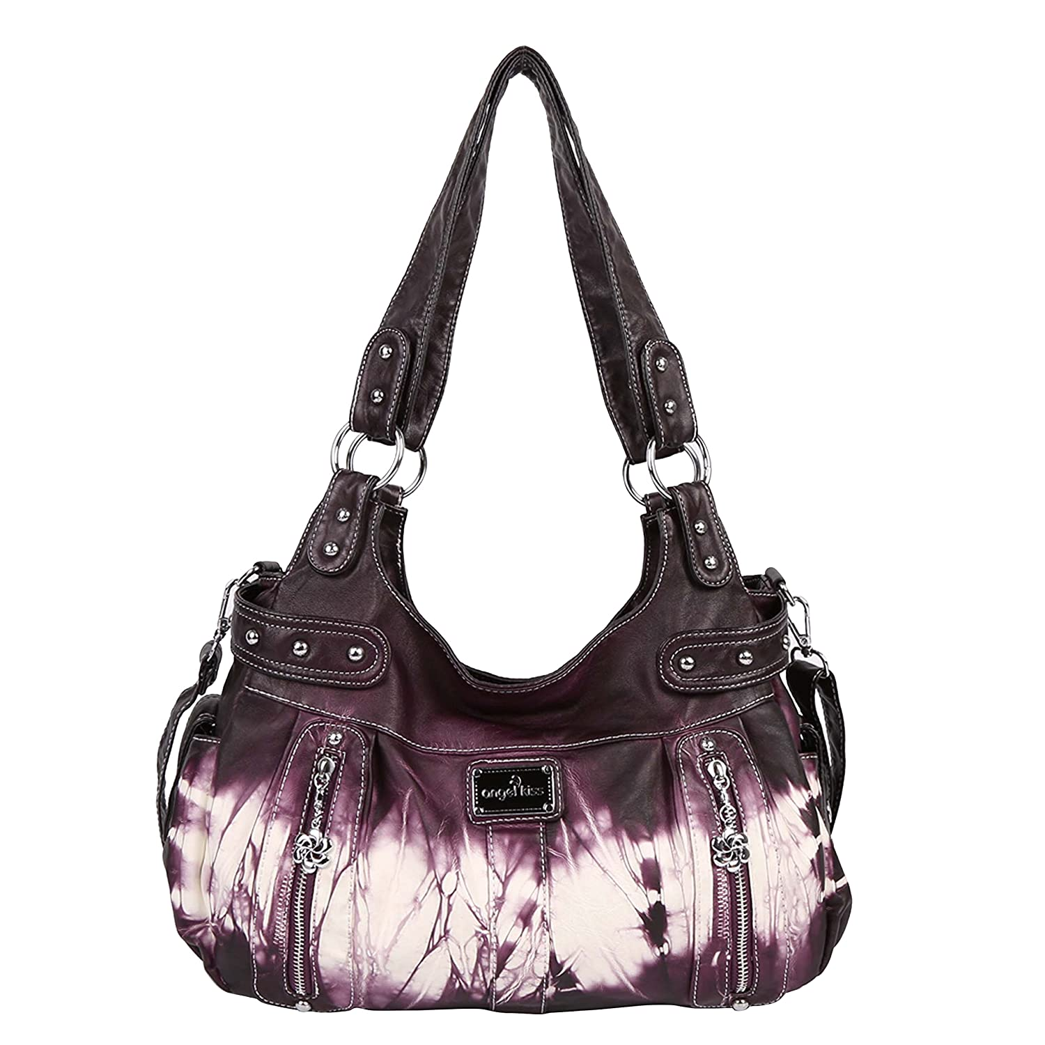 Angelkiss 2 Separated Compartments Large Capacity Purses and ...