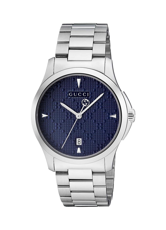 85e025d64ce Amazon.com  Gucci G-Timeless Diamante Blue Dial Ladies Watch YA1264025   Gucci  Watches