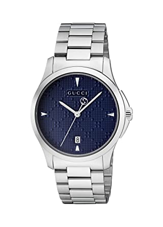 Amazon.com: Gucci G-Timeless Diamante Blue Dial Ladies Watch YA1264025: Gucci: Watches
