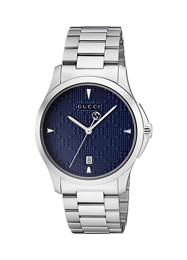 Amazon.com: Gucci G-Timeless Diamante Blue Dial Ladies Watch YA1264025: Gucci: Watches