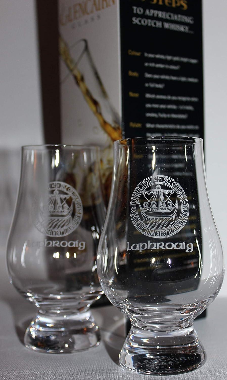 Laphroaig Islay Crest Twin Pack Glencairn Whisky Tasting Glasses ...