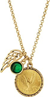 product image for American Coin Treasures Gold Tone Angel Coin Pendant Necklace with Wing