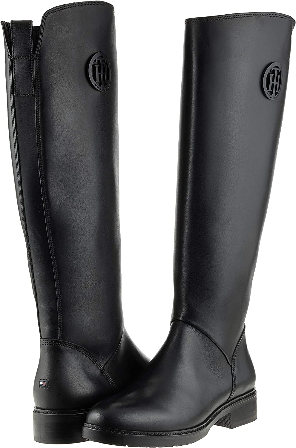 Tommy Hilfiger Basic TH Riding Boot Leather, Stivali Alti
