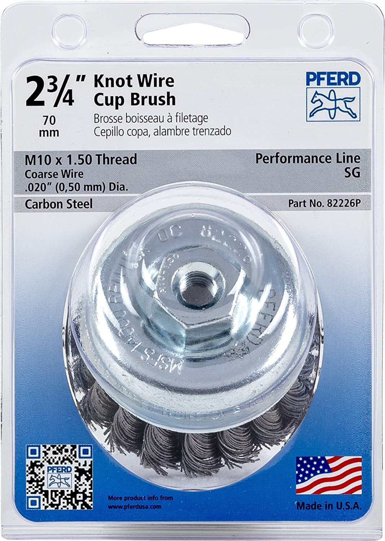 Pferd 82226P Standard Twist Knot Cup Brush, Carbon Steel Wire, 2-3/4 ...