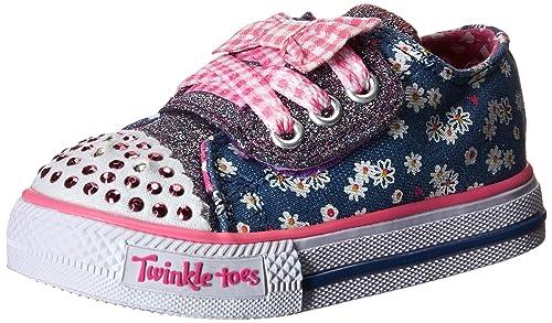Skechers Shuffles Daisy Dotty - Zapatilla deportiva de lona niña: Amazon.es: Zapatos y complementos