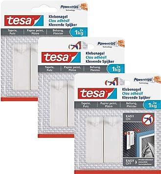 2 Stück 77776-00000-00 tesa Klebenagel bis zu 2kg für Tapeten und Putz