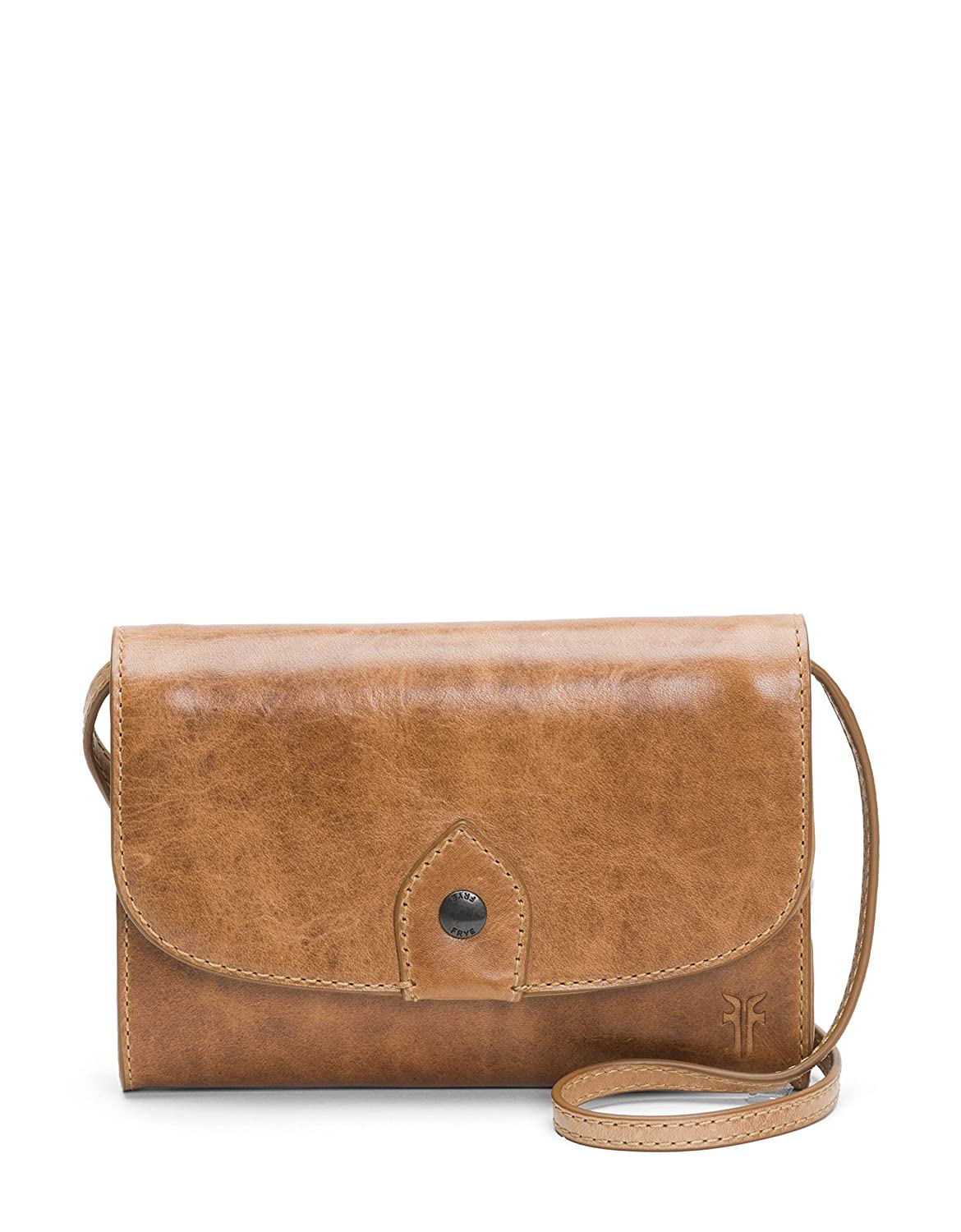 Beige FRYE Melissa Wallet Crossbody Clutch Leather Bag