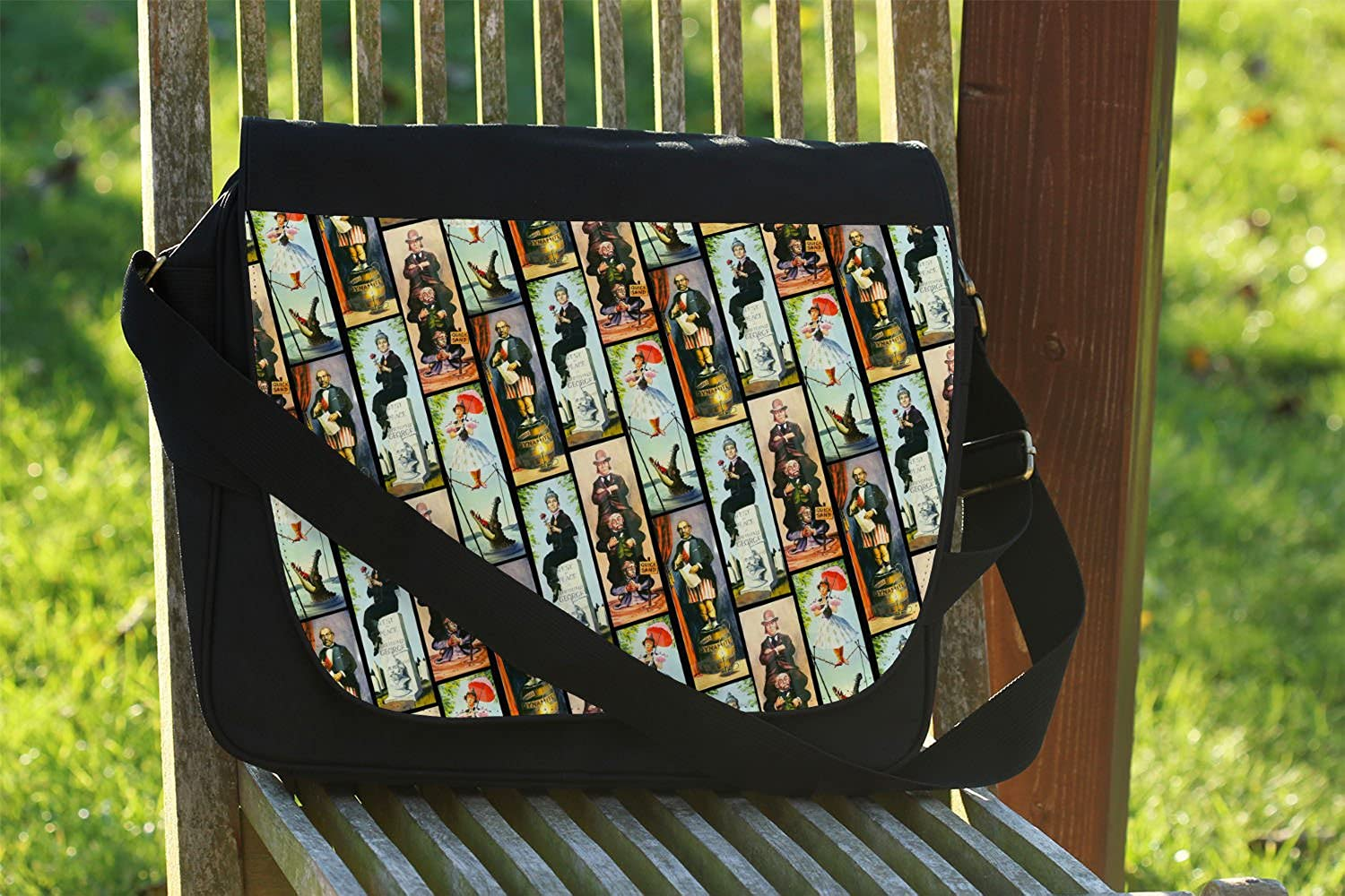 Haunted Mansion Stretch Paintings Messenger Bag