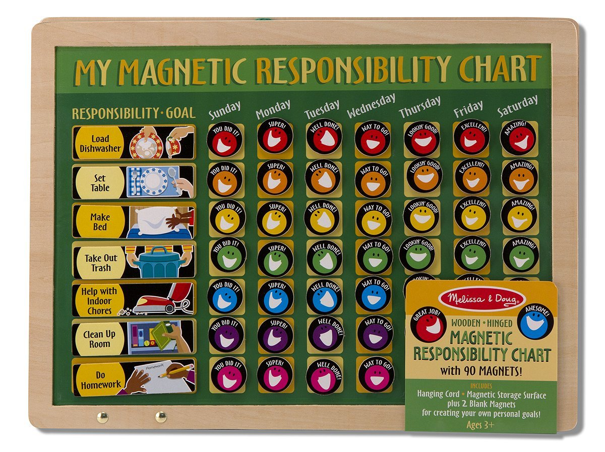 Amazon com melissa doug deluxe wooden magnetic responsibility