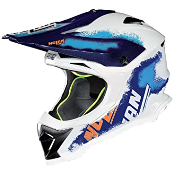 Amazon.es: Nolan N53 Lazy Boy Cross Casco Moto Lexan N- Com - Metal Blanco Tamaño M