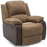 POSTANA Jumbo Cord Fabric Recliner Armchair Sofa Lounge Home Reclining Chair