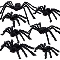 AOJOYS Halloween Spider Decorations Outdoor 7 PCS, Realistic Gaint Spider Halloween Party Decorations, Hairy Large…