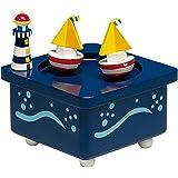 Boîte à musique mélodie bateaux à voile: danse Doggie dans la fenêtre 43729