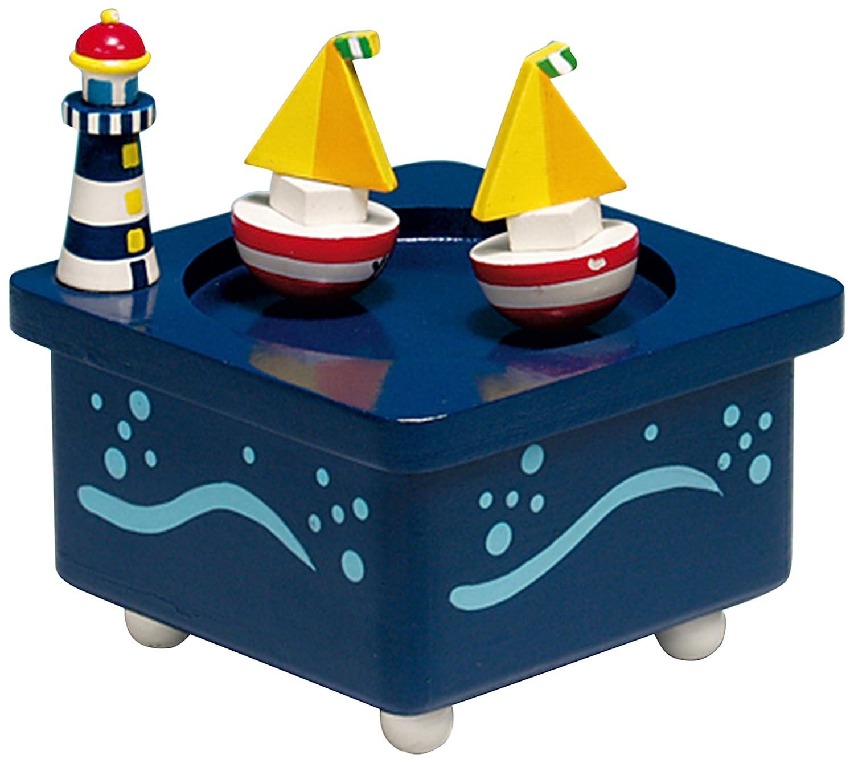 melod/ía Over the waves Musicbox World 43729 Caja musical con figuras de veleros