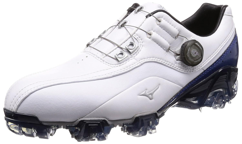 [ミズノゴルフ] ゴルフシューズ ジェネム008 ボア メンズ B0046RQXNQ 26.0 cm 4E ホワイト/ブルー
