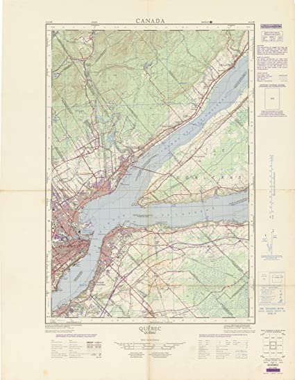Quebec Topographic Map.Canada National Topographic System Maps Varies Quebec 1970 24in X