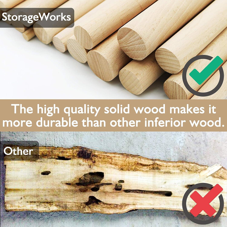 Coat Wood Hangers White StorageWorks 20-Pack Solid Wooden Suit Hangers