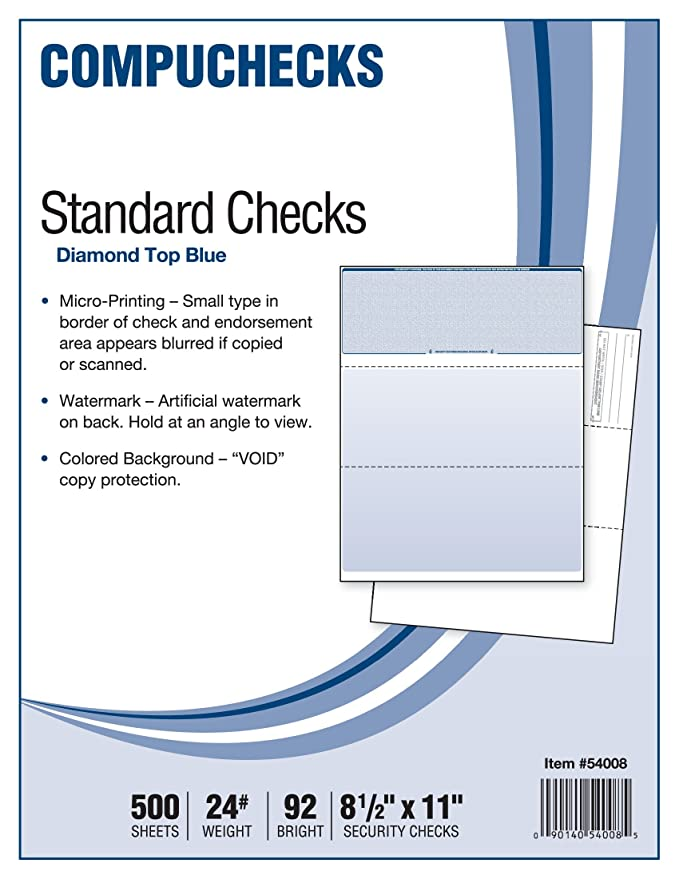 Amazon 500 Blank Check Stock Check On Top Blue Diamond