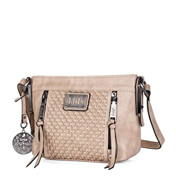 801c5b0db Lois - 93344 Bolso de Mujer Bandolera Ajustable. Dos Bolsillos Delante, uno  detrás y