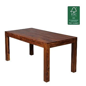 Design Esstisch Holz Massiv 160 X 80 X 76 Cm | Moderner Esszimmertisch  Sheesham Palisander Für