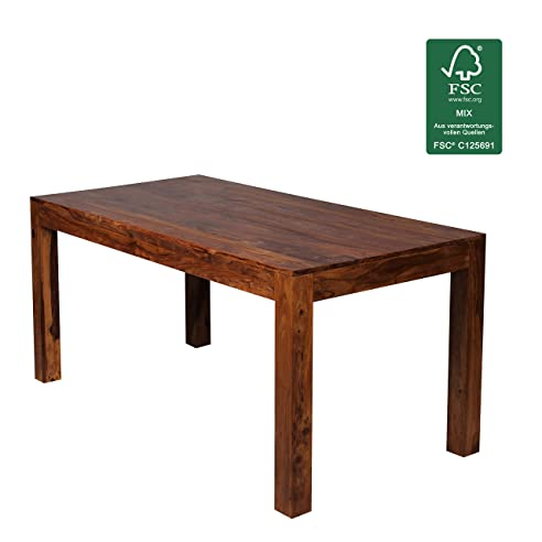 Design Esstisch Holz Massiv 160 x 80 x 76 cm | Moderner ...