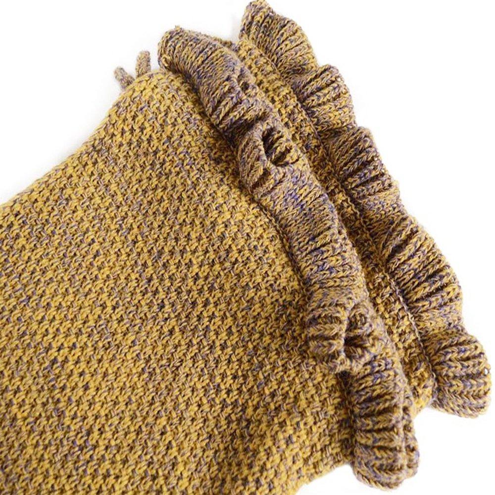AIDUE Mermaid Tail Blankets Kids,All Season Little Mermaid Blanket Knitted Sofa Blankets Bed Quilt Nap Sleeping Bag for Childs 140cmX70cm(55.1\