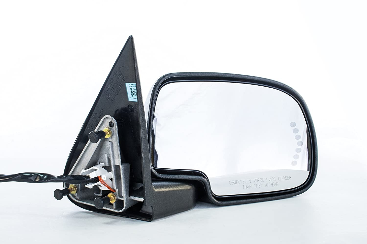 Right Passenger Side Door Mirror Heated Power-Folding for Chevy Silverado Suburban Tahoe Avalanche, GMC Sierra 1500 2500 3500 Yukon XL (2000 2001 2002 2003 2004 2005 2006 2007) GM1321373 Dependable Direct