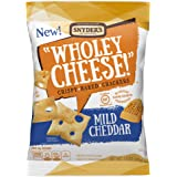 Snyder's of Hanover Wholey Cheese! Baked Cheese Crackers, Mild Cheddar, 1.5 Ounce (Pack of 8)