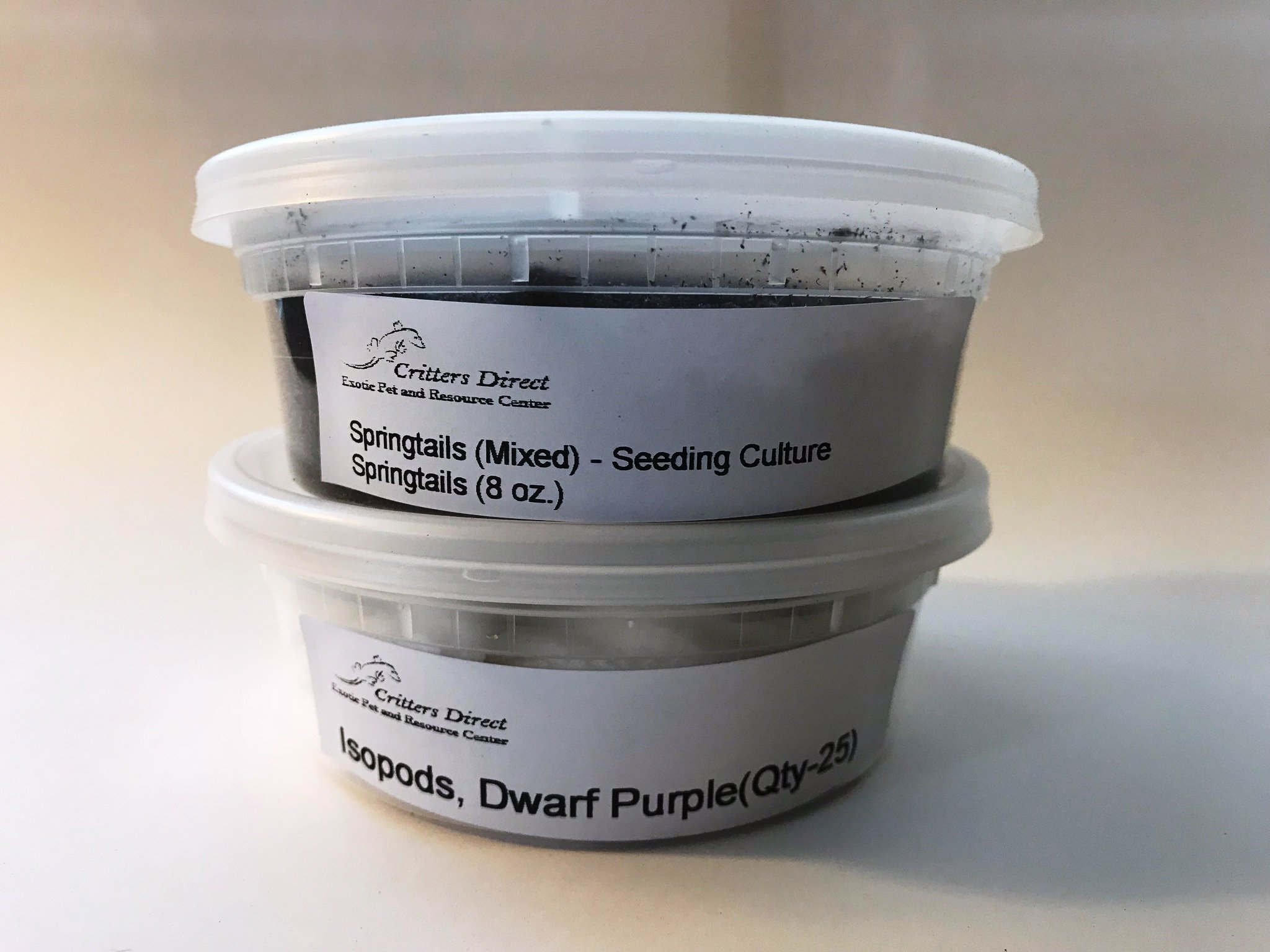 Critters Direct Springtails + Isopods Combo Package (Mixed Springs + Purple Micropods) by Critters Direct