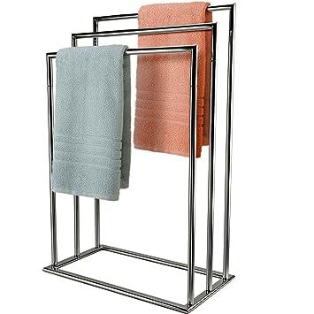 Mastronics Handtuchhalter, 3 Ebenen, Freistehend Chrome Wäscheständer  Trocknen Badezimmer Ständer