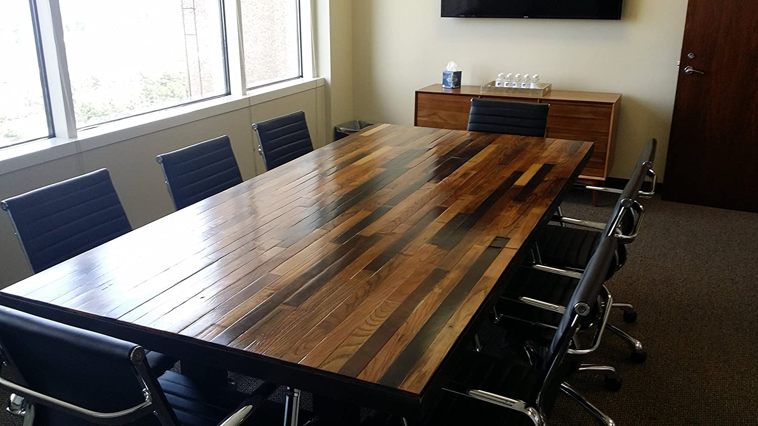 Amazon.com: Washington Executive Our Handmade Work, Contemporary Conference  Or Dining Table Made From Reclaimed Wood (Replica From The Show Scandal):  ...