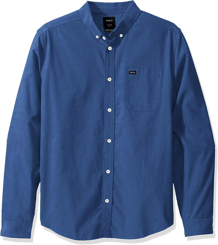 RVCA Men's That'll Do Stretch Long Sleeve Shirt: Clothing