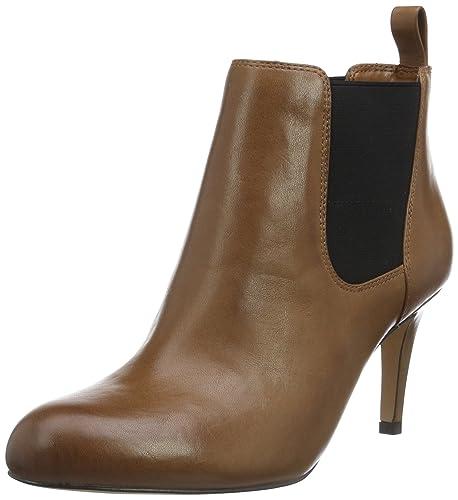 Clarks Carlita Quinn, Botines para Mujer, Marrón (Tan Leather), 37 EU