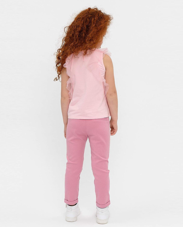 GULLIVER Blusa Ragazza T-Shirt Senza Maniche Cotone Top Bambina con Ricami