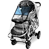 Stroller Rain Cover,Universal Stroller Accessory,Waterproof, Windproof Protection,Protect from Dust Snow,Baby Travel Weather
