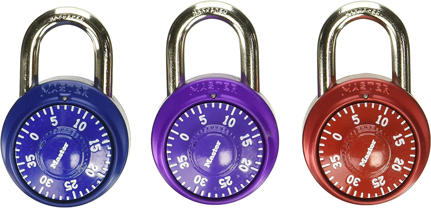 4-Pack Color May Vary Master Lock 653D Set-Your-Own-Combination 2-inch Padlock