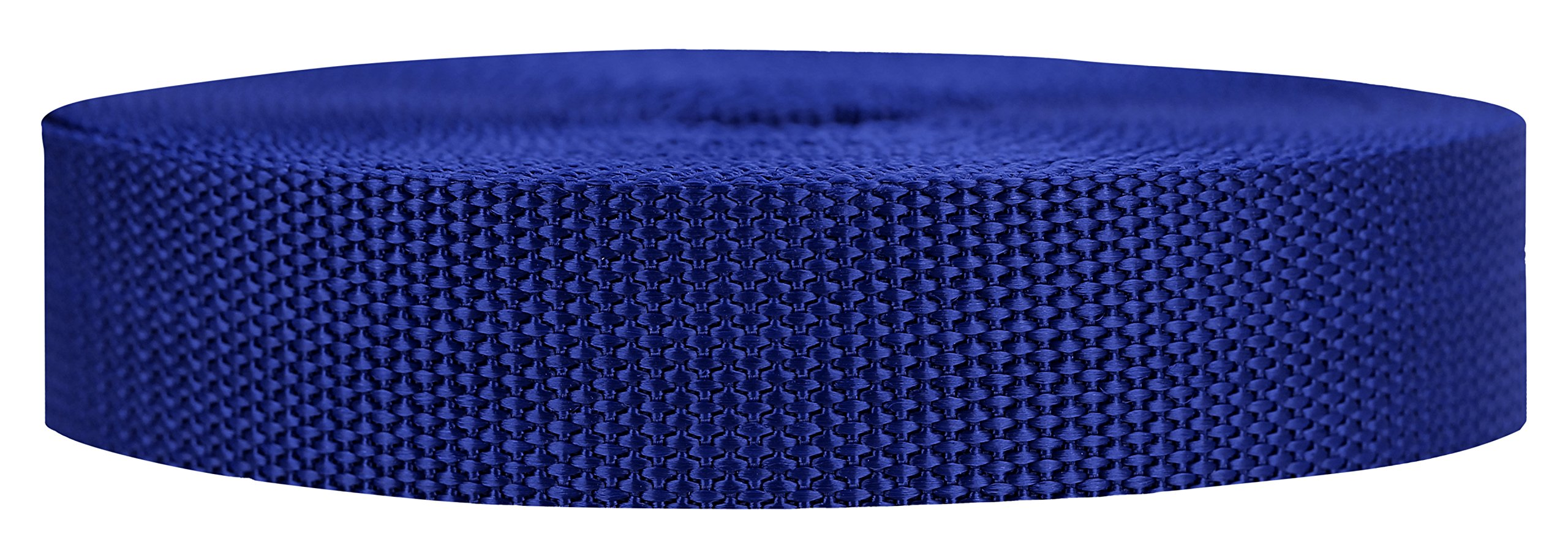 Strapworks Heavyweight Polypropylene Webbing - Heavy Duty Poly Strapping for Outdoor DIY Gear Repair, 1 Inch x 10 Yards - Navy Blue