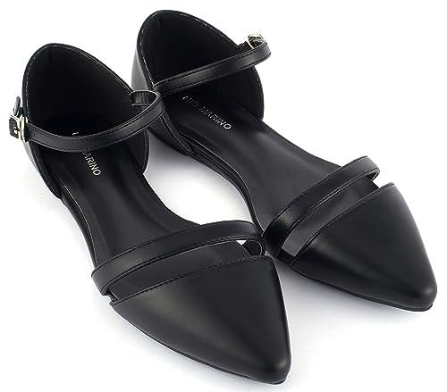 Amazon Mio Marino Dorsay Pointed Toe Flats Womens Ankle