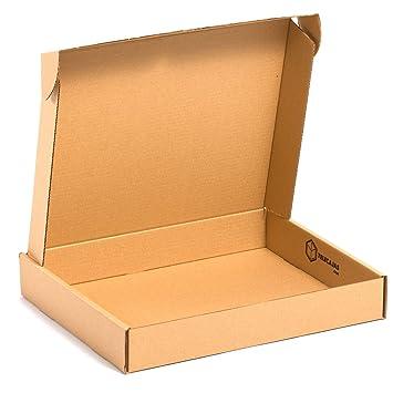 (x25) Caja de cartón Automontable Envíos Postales (45x35x07 cms) (LOTE DE 25 UNIDADES) TeleCajas: Amazon.es: Oficina y papelería